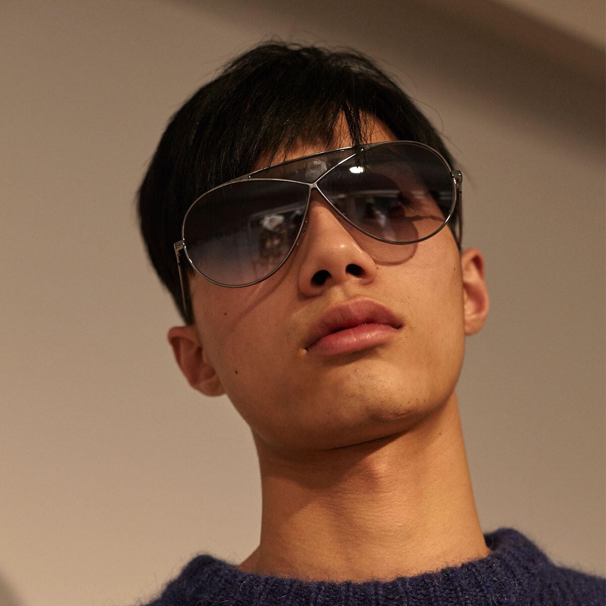 LOEWE Pilot Puzzle Sunglasses Pale Gold/Gradient Roviex front