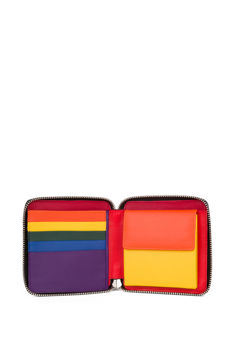LOEWE 柔软小牛皮 Rainbow Square 拉链钱包 Multicolor/Black pdp_rd