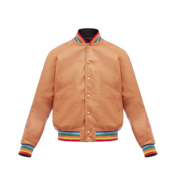 LOEWE Reversible Blouson Rainbow Rib Tan/Multicolor front