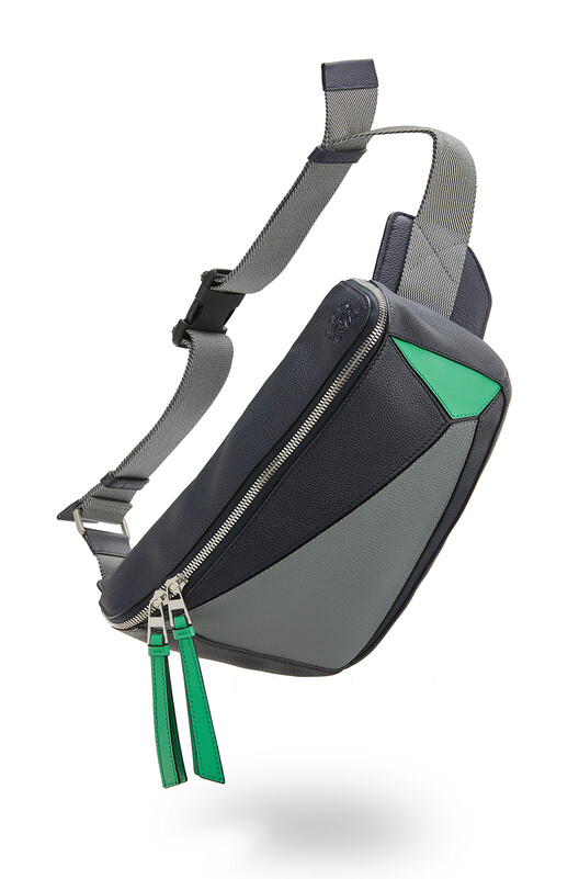 LOEWE Puzzle Sling Deep Blue/Green front