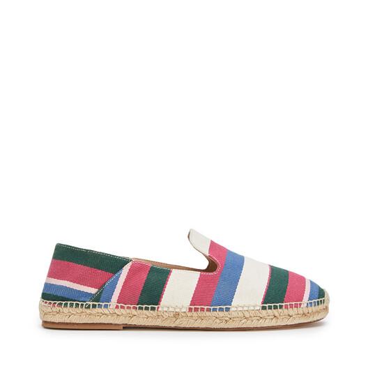 LOEWE Slipper Espadrille Pink/Green/Light Blue front