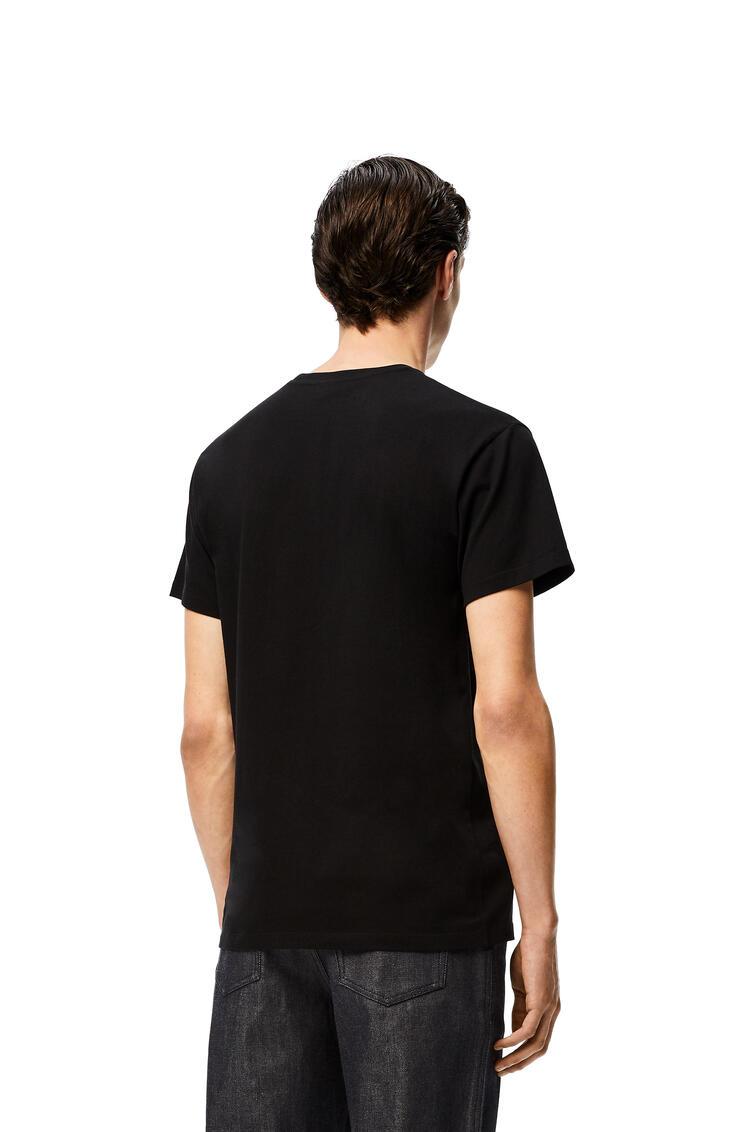 LOEWE Camiseta en algodón con anagrama Negro pdp_rd