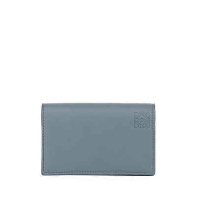 LOEWE Business Card Holder Stone Blue/Ivory front