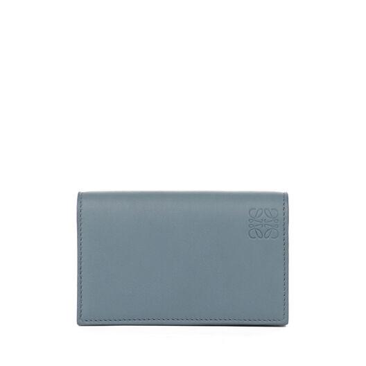 LOEWE ビジネス カード ホルダー ストーンブルー/アイボリー front