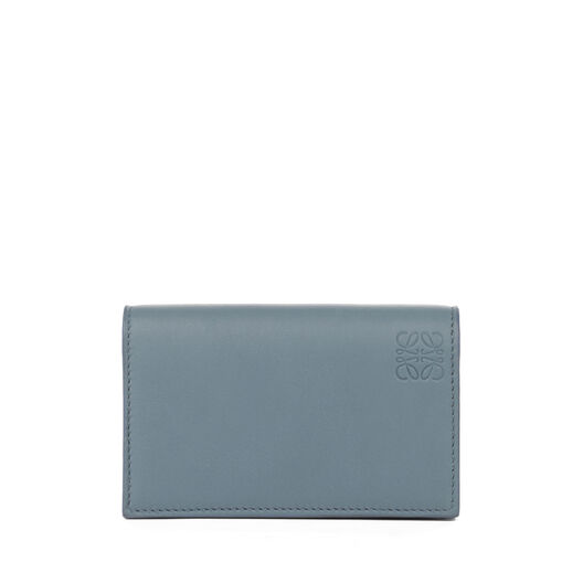 LOEWE 名片卡包 Stone Blue/Ivory front