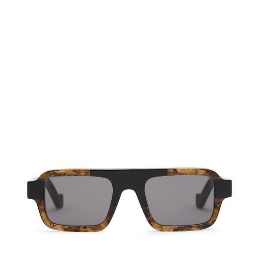 LOEWE Gafas Cuadradas Negro/Verde Kaki front