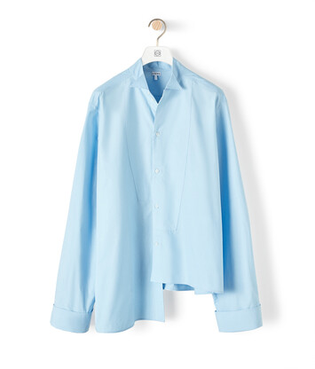 LOEWE Oversize Asymmetric Shirt Baby Blue front