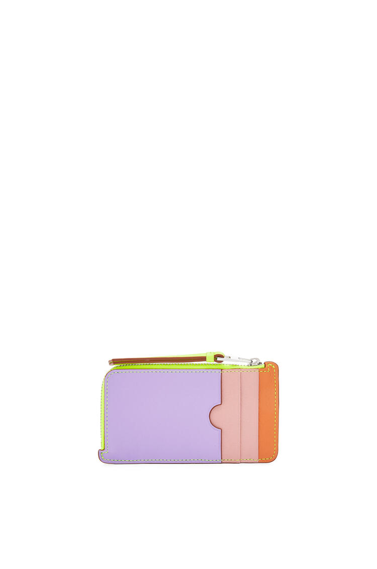 LOEWE Puzzle coin cardholder in classic calfskin Mauve/Soft Apricot pdp_rd