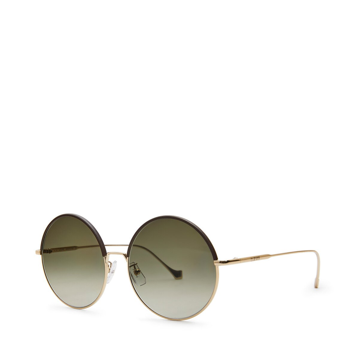 LOEWE Round Sunglasses Brown/Khaki Green front