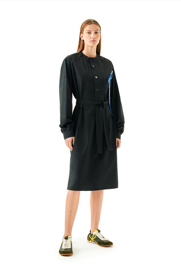 LOEWE Tunic Shirtdress Black front
