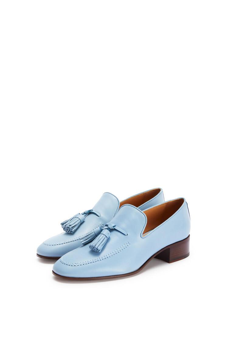 LOEWE Pompon loafer 40 in calf Light Blue pdp_rd