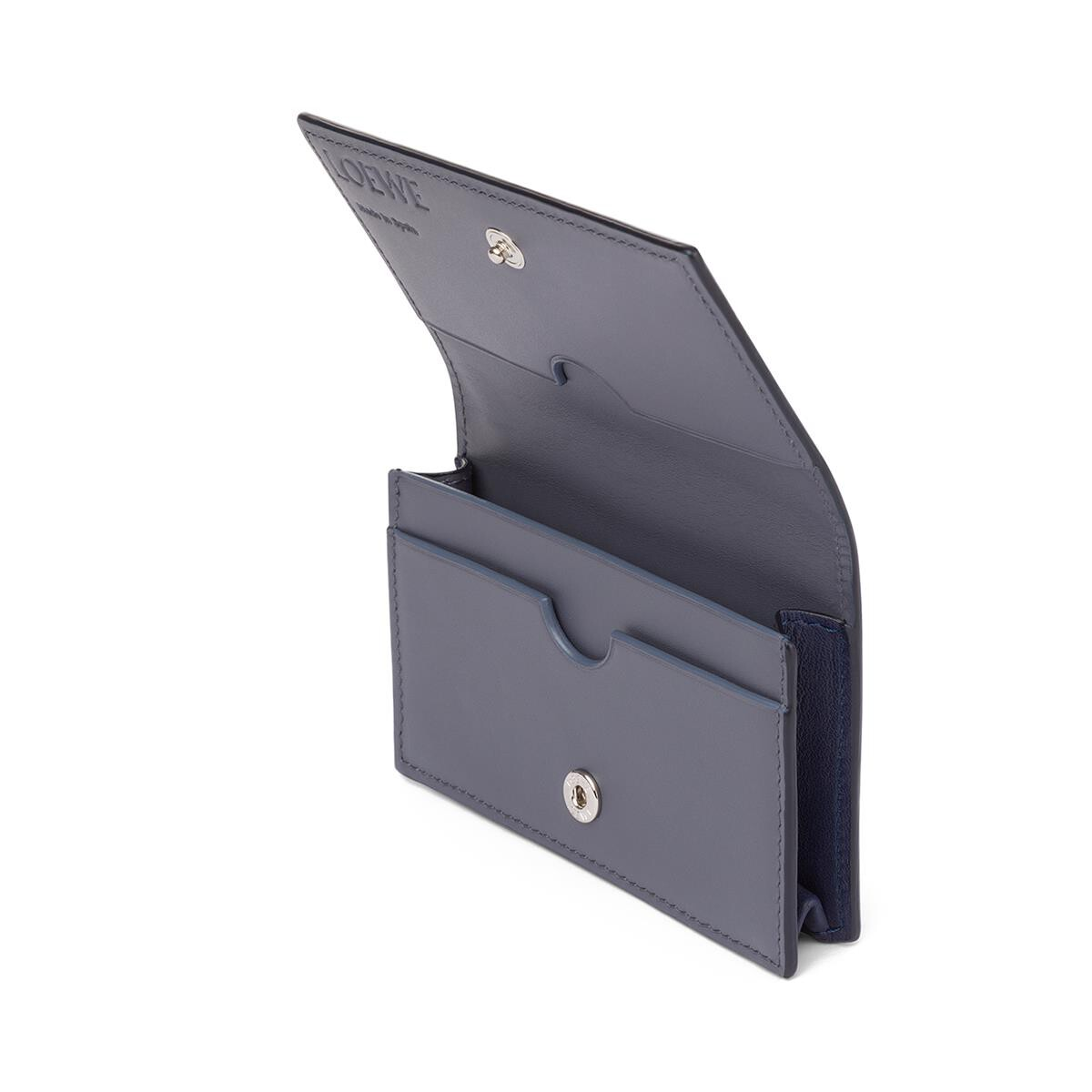 LOEWE Business Card Holder Navy/Ocean front