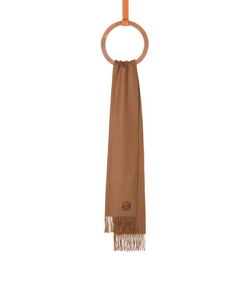 LOEWE 35X170 Anagram Scarf Camel front