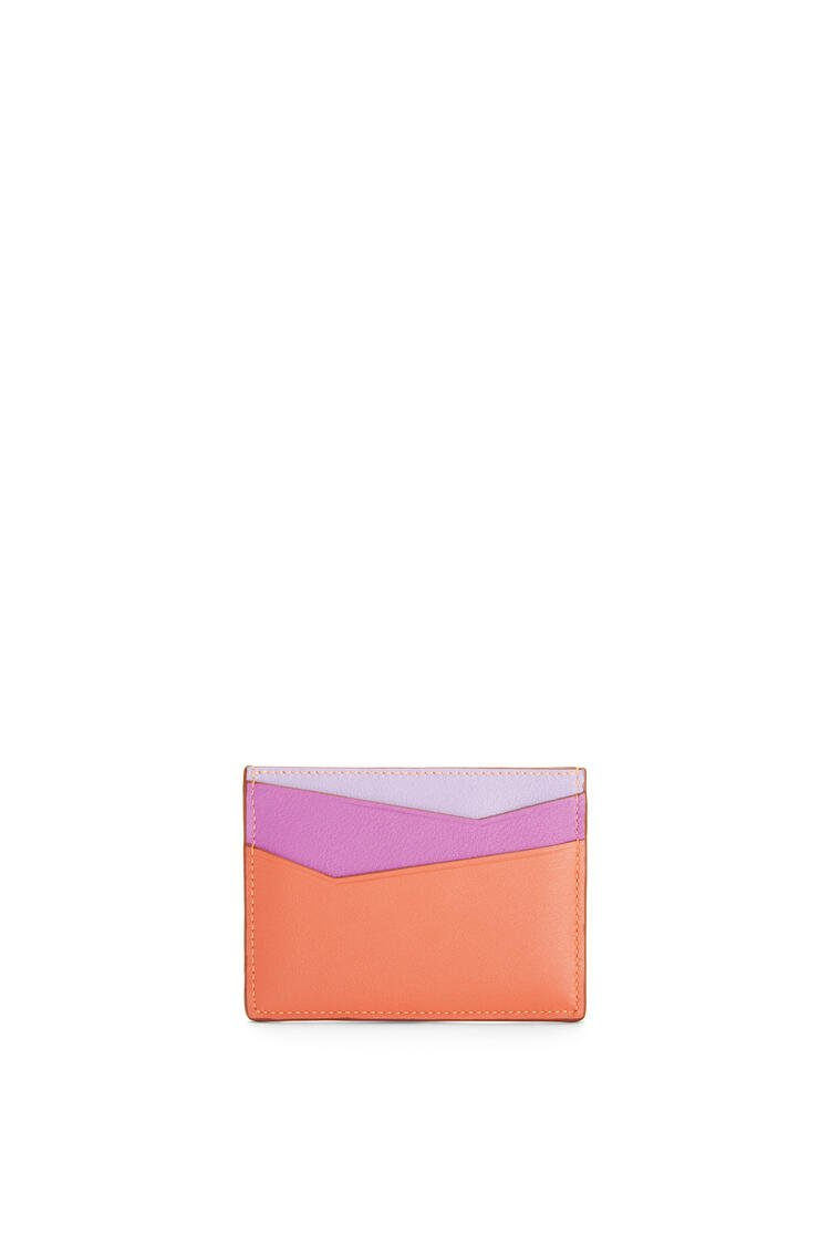 LOEWE Puzzle plain cardholder in classic calfskin Grapefruit/Mauve pdp_rd