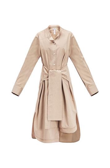 LOEWE Asymmetric Shirtdress 米色 front