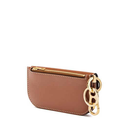 LOEWE Gate Mini Wallet Tan/Medium Pink front