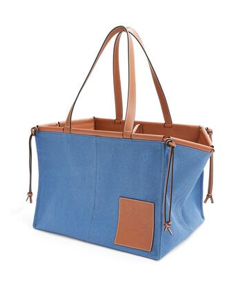LOEWE Cushion Tote Grande Azul Acero front
