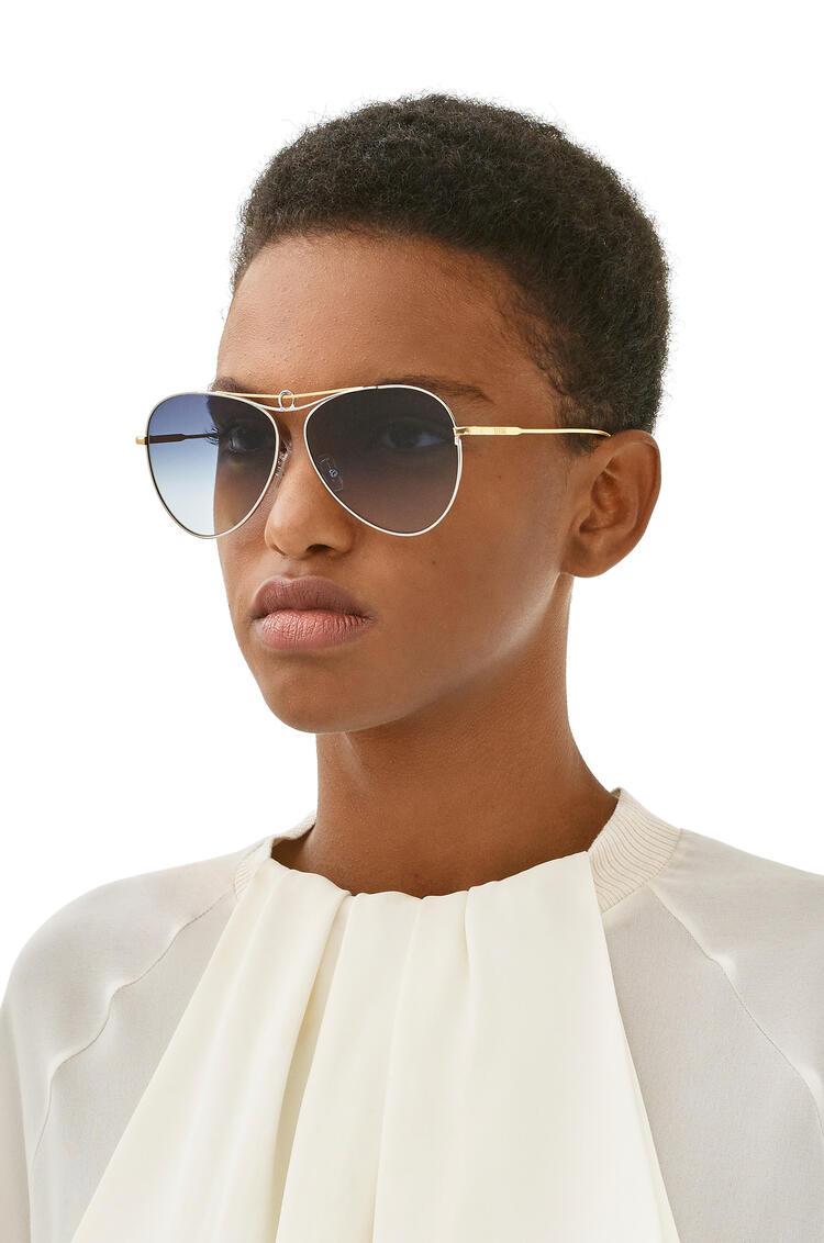 LOEWE Metal knot pilot sunglasses Gold/Blue pdp_rd