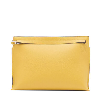 LOEWE T Pouch Yellow Mango front