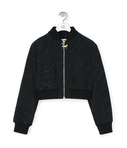 LOEWE Cropped Bomber Negro front