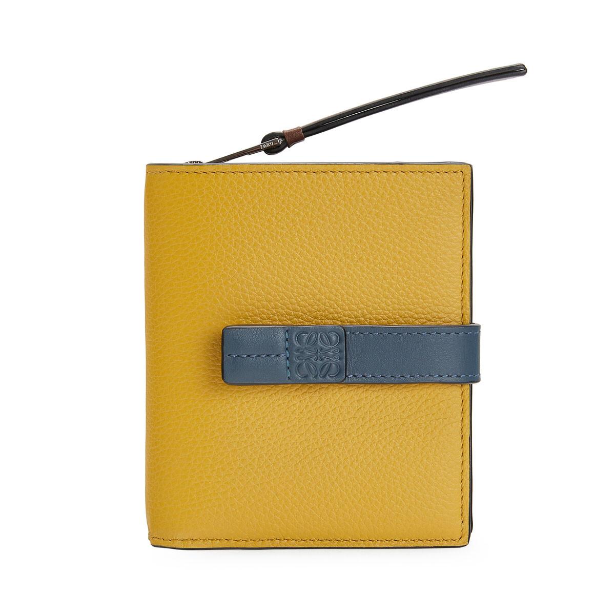 LOEWE Compact Zip Wallet Ochre/Steel Blue  front