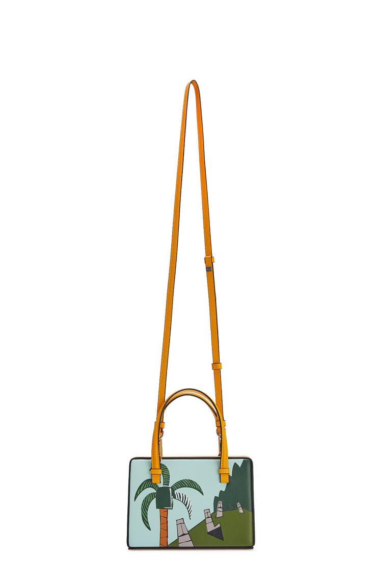 LOEWE Small Easter Island Postal bag in classic calfskin Yellow Mango/Multicolor pdp_rd