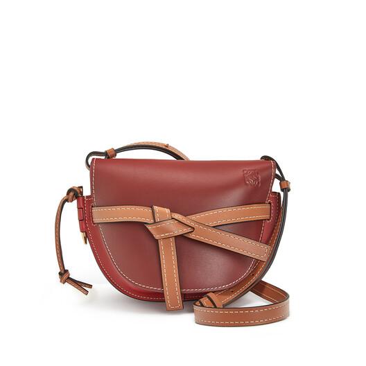 LOEWE Gate Small Bag Garnet/Pomodoro front