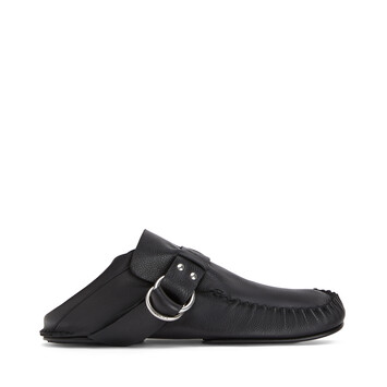 LOEWE Soft Mocassin Rings Negro front