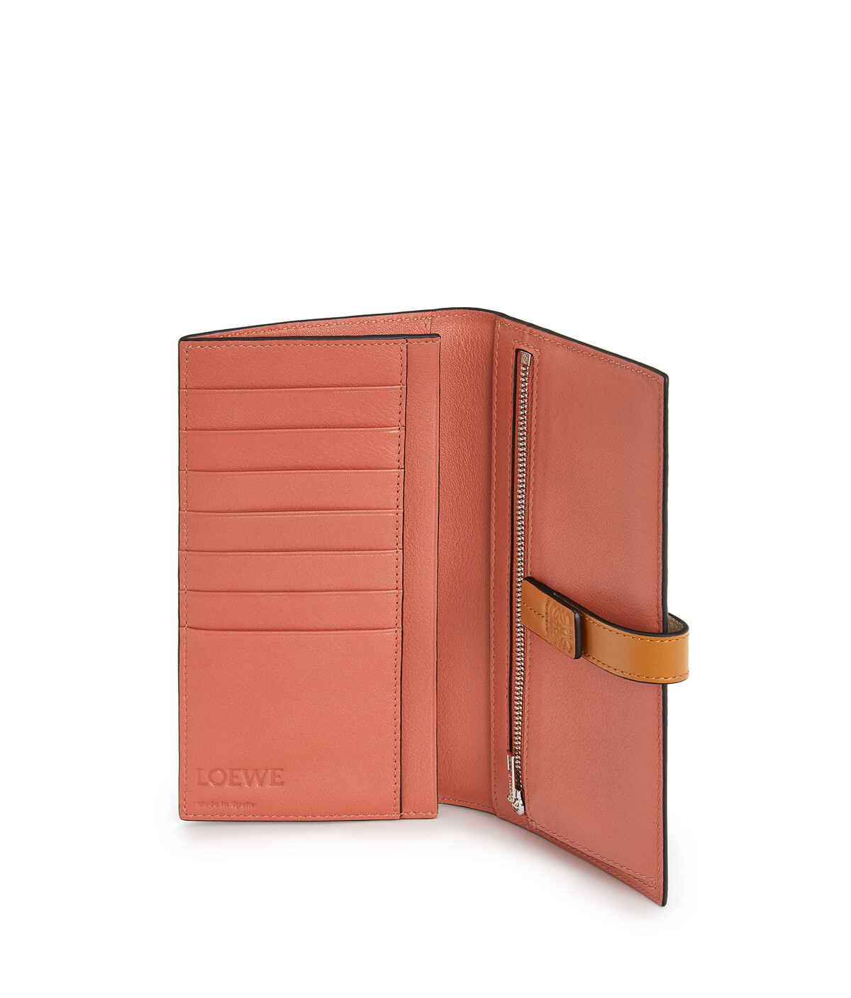 LOEWE Large Vertical Wallet Light Oat/Honey front