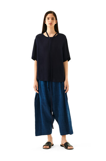 LOEWE Oversize Trousers blue multitone front
