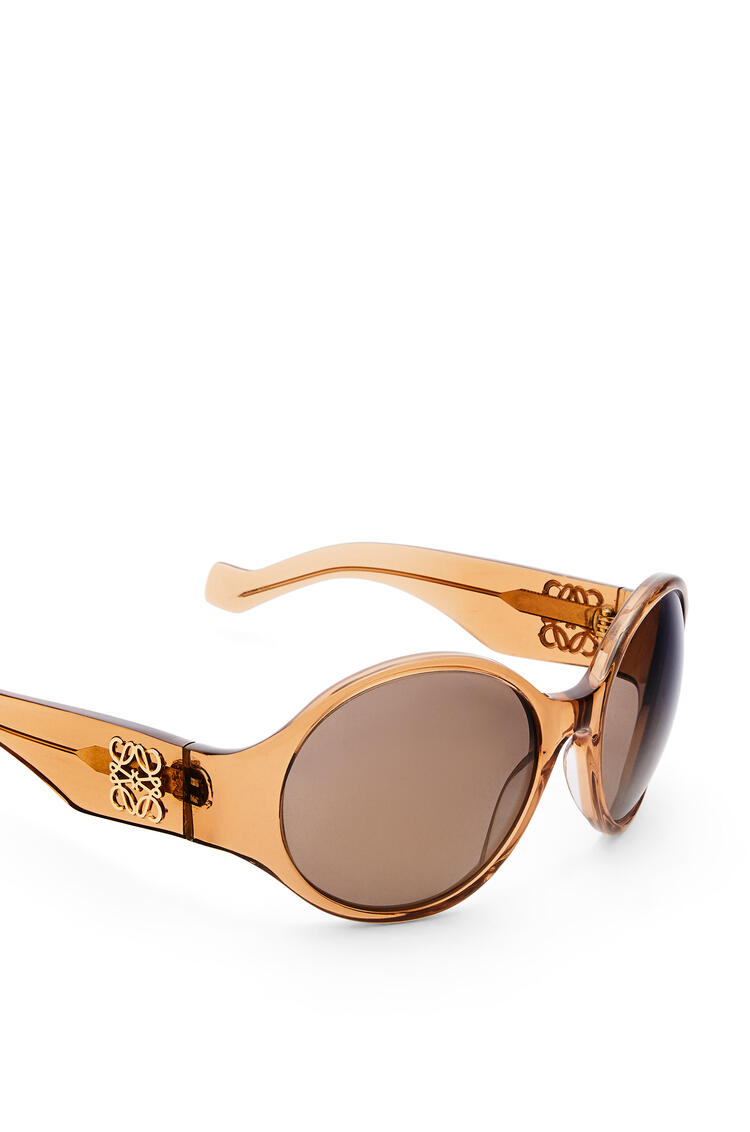 LOEWE Round Anagram Sunglasses in Acetate Shiny Light Brown pdp_rd