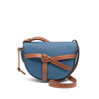LOEWE Gate Small Bag Varsity Blue/Pecan Color front