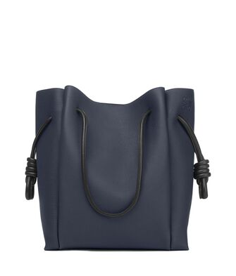 LOEWE Flamenco Knot Tote Bag Midnight Blue/Black front