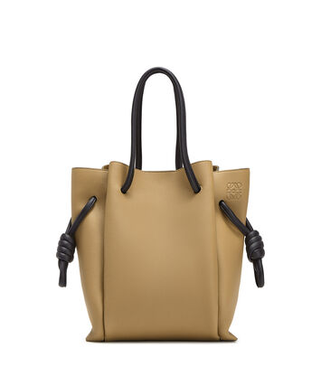 LOEWE Flamenco Knot Tote Small Mocca/Black front