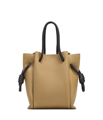 LOEWE Flamenco Knot Tote Pequeño Mocca/Negro front