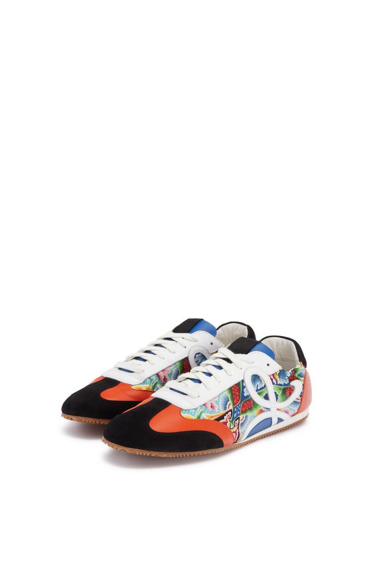 LOEWE Ballet runner in split calfskin and polyester Multicolor/Tan pdp_rd