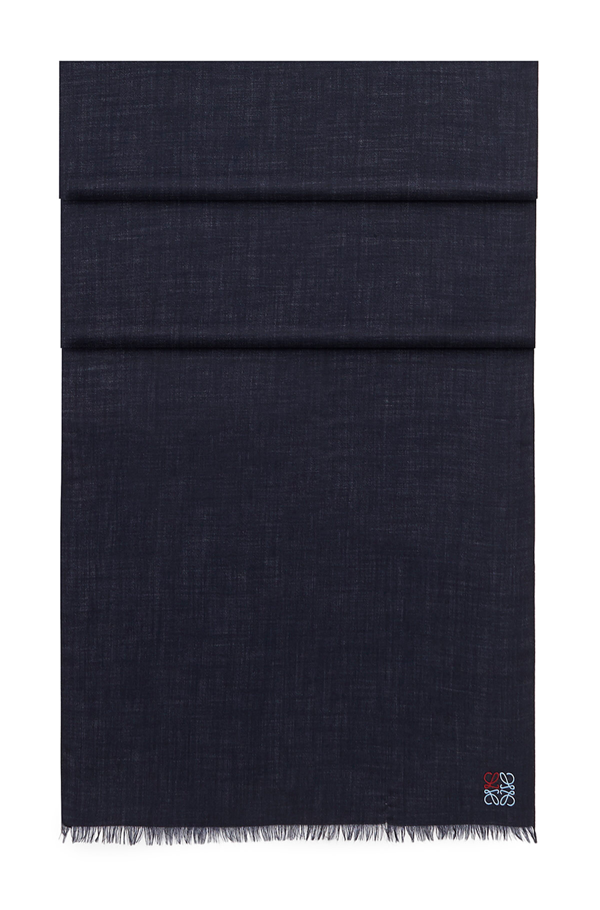 LOEWE 70X200 Anagram Scarf Navy Blue front