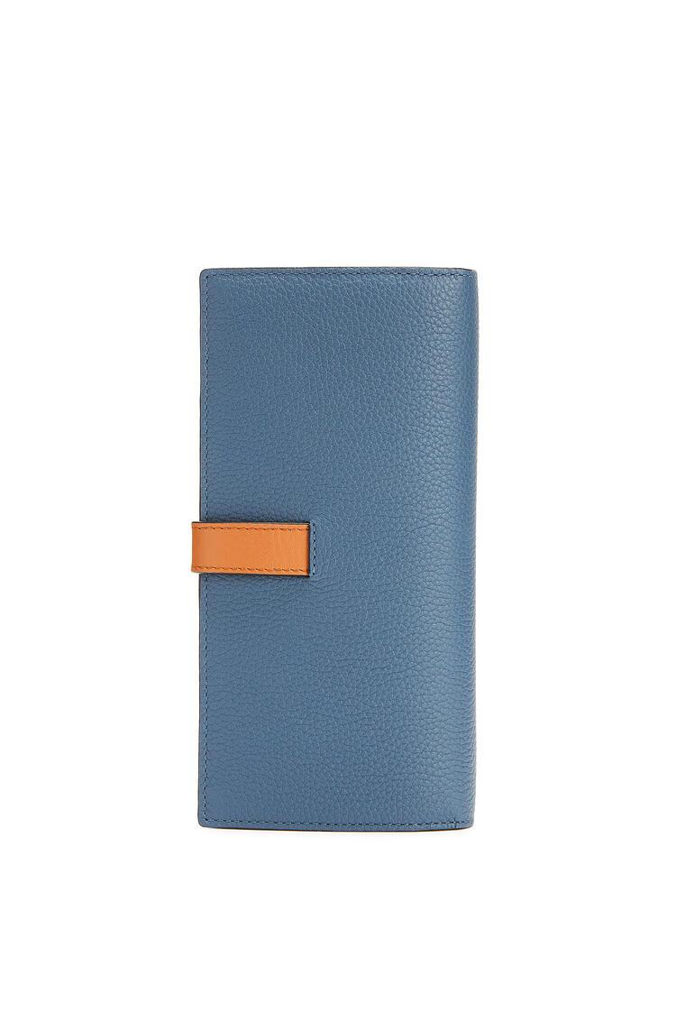 LOEWE Large Vertical Wallet In Soft Grained Calfskin Steel Blue/Tan pdp_rd