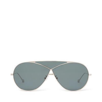 LOEWE Pilot Puzzle Sunglasses Pale Gold/Petrol front