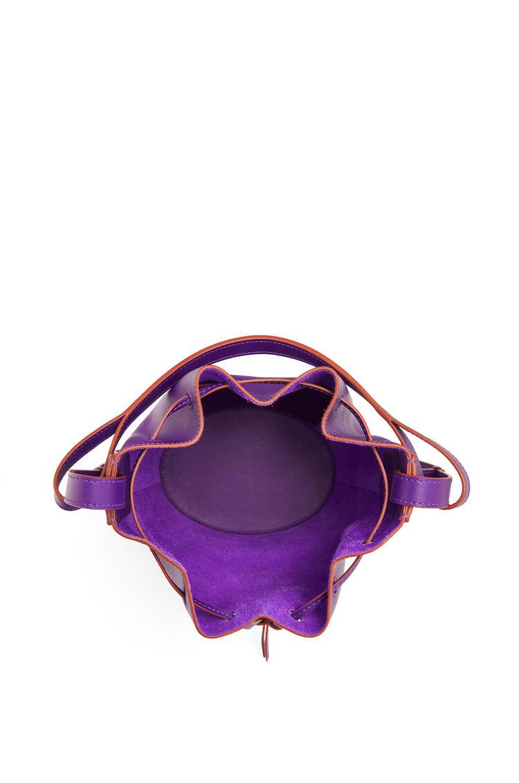 LOEWE Small Balloon bag in nappa and calfskin Purple pdp_rd