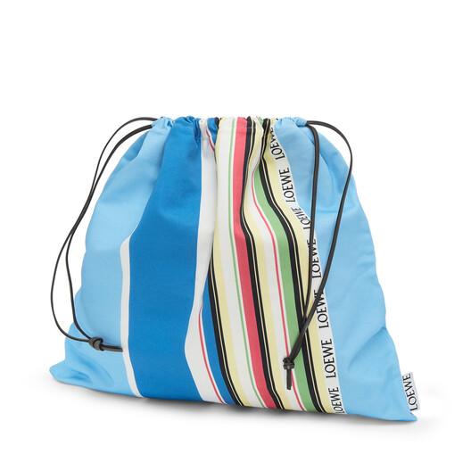 LOEWE Drawstring Pouch L Stripes blue/multicolour front