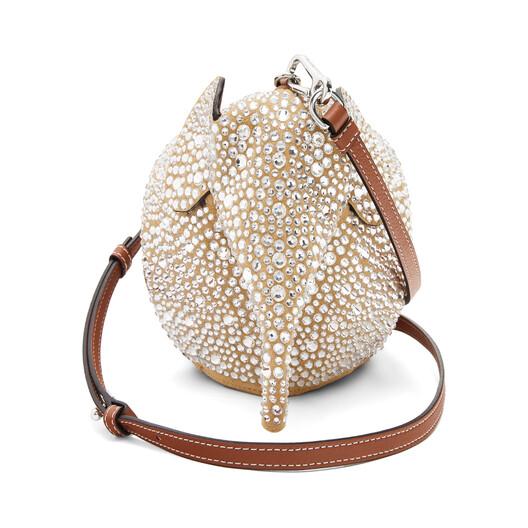 LOEWE Elephant Mini Bag Gold/Crystal front