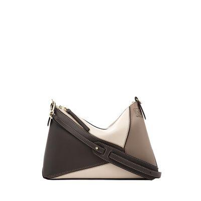 LOEWE Puzzle Pochette Bag Dark Taupe Multitone front