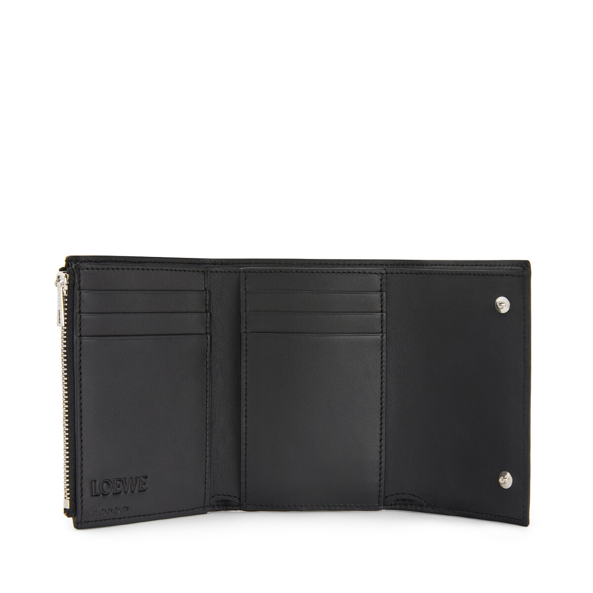 LOEWE Small Vertical Wallet 黑色/多色 front