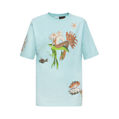LOEWE T-Shirt Paula Mermaid Aqua front