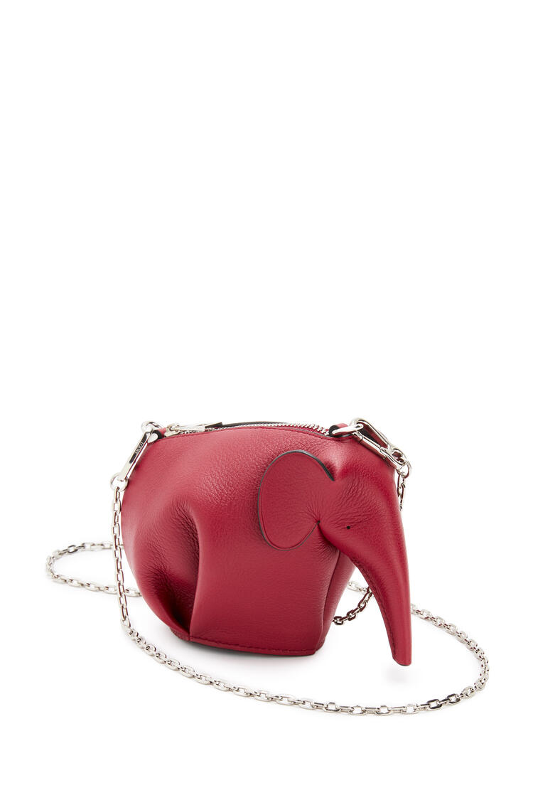 LOEWE Pouch Elephant en piel de ternera clásica Rojo Profundo pdp_rd