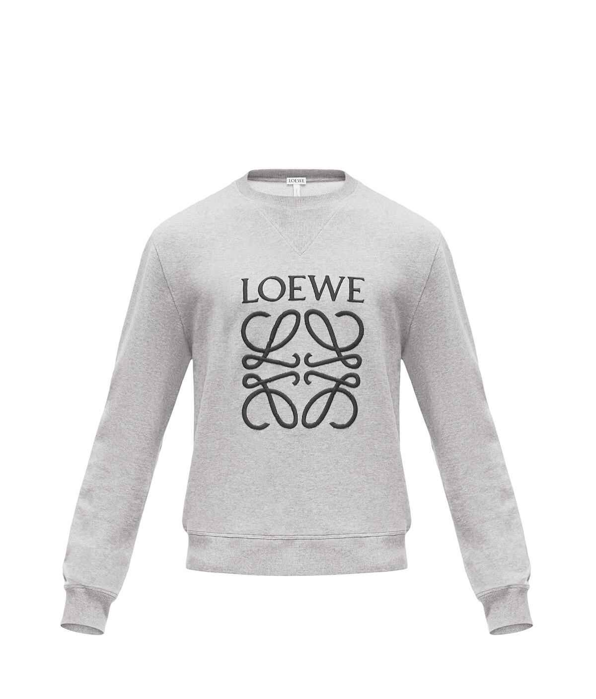 LOEWE アナグラム スエットシャツ グレー front