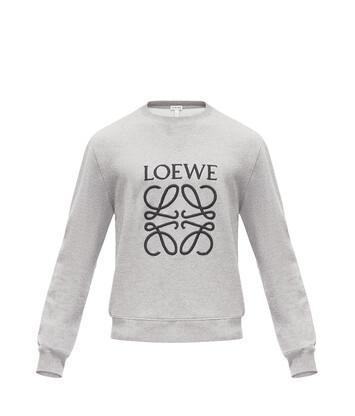 LOEWE Anagram Sweatshirt 灰色 front