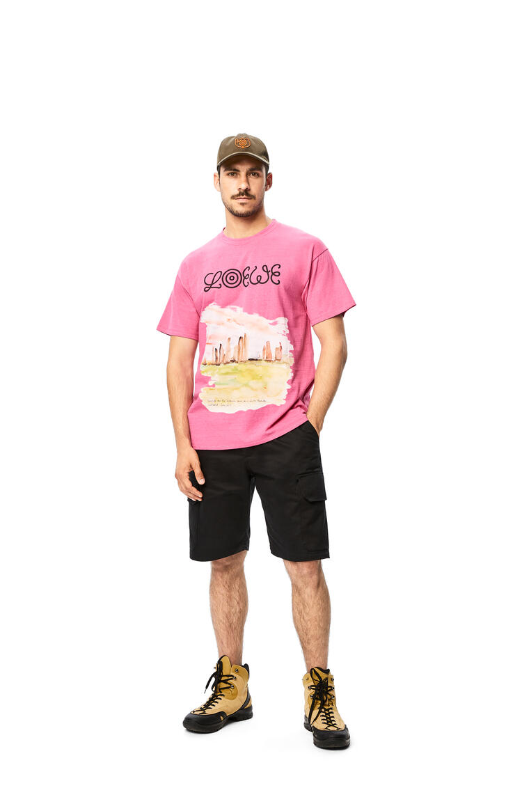 LOEWE T-shirt in watercolor cotton Pink pdp_rd