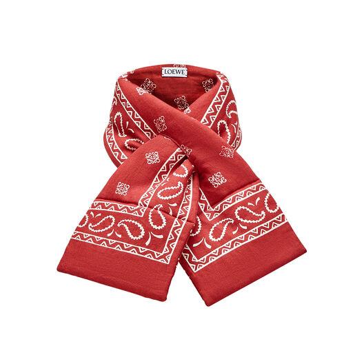 LOEWE 17X95 Puffed Scarf Bandana Red front